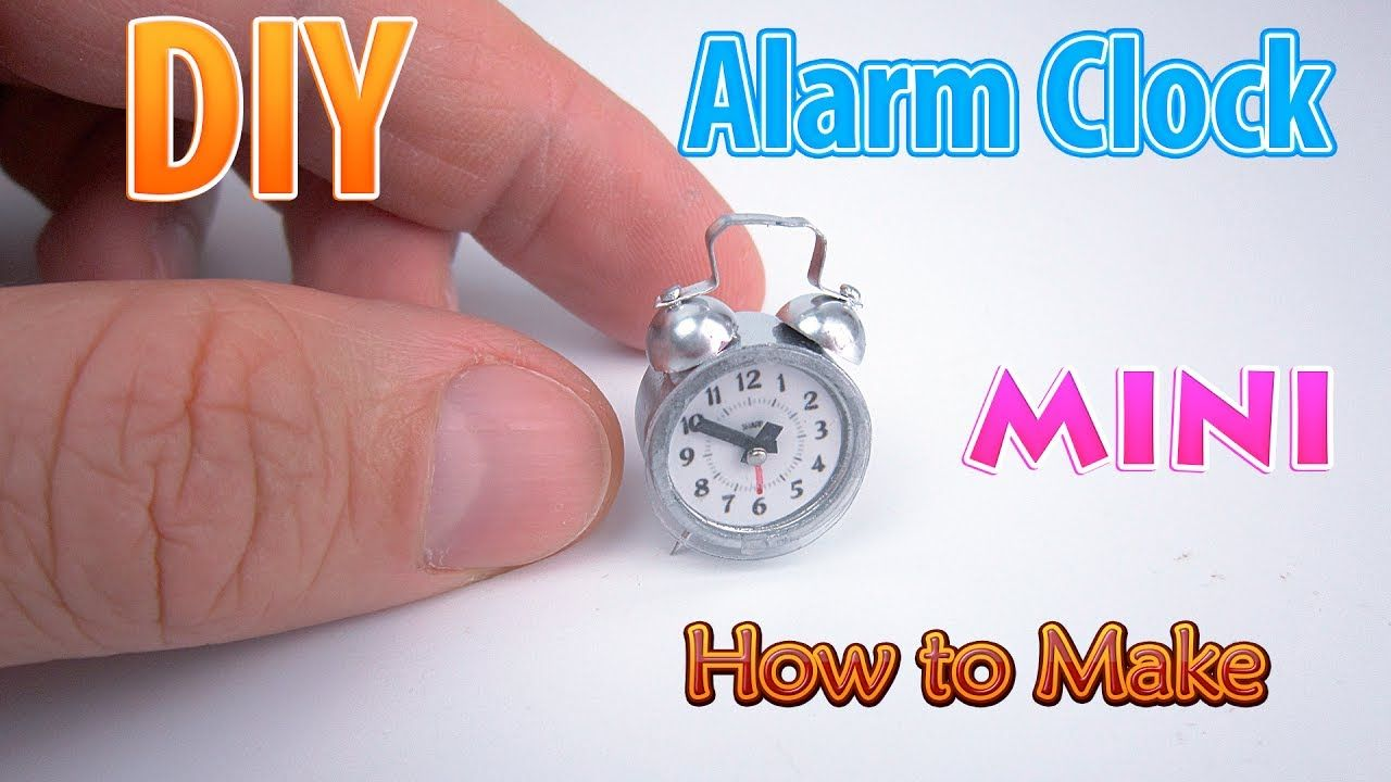tutorial: miniature alarm clock #dollhouseminiaturetutorials