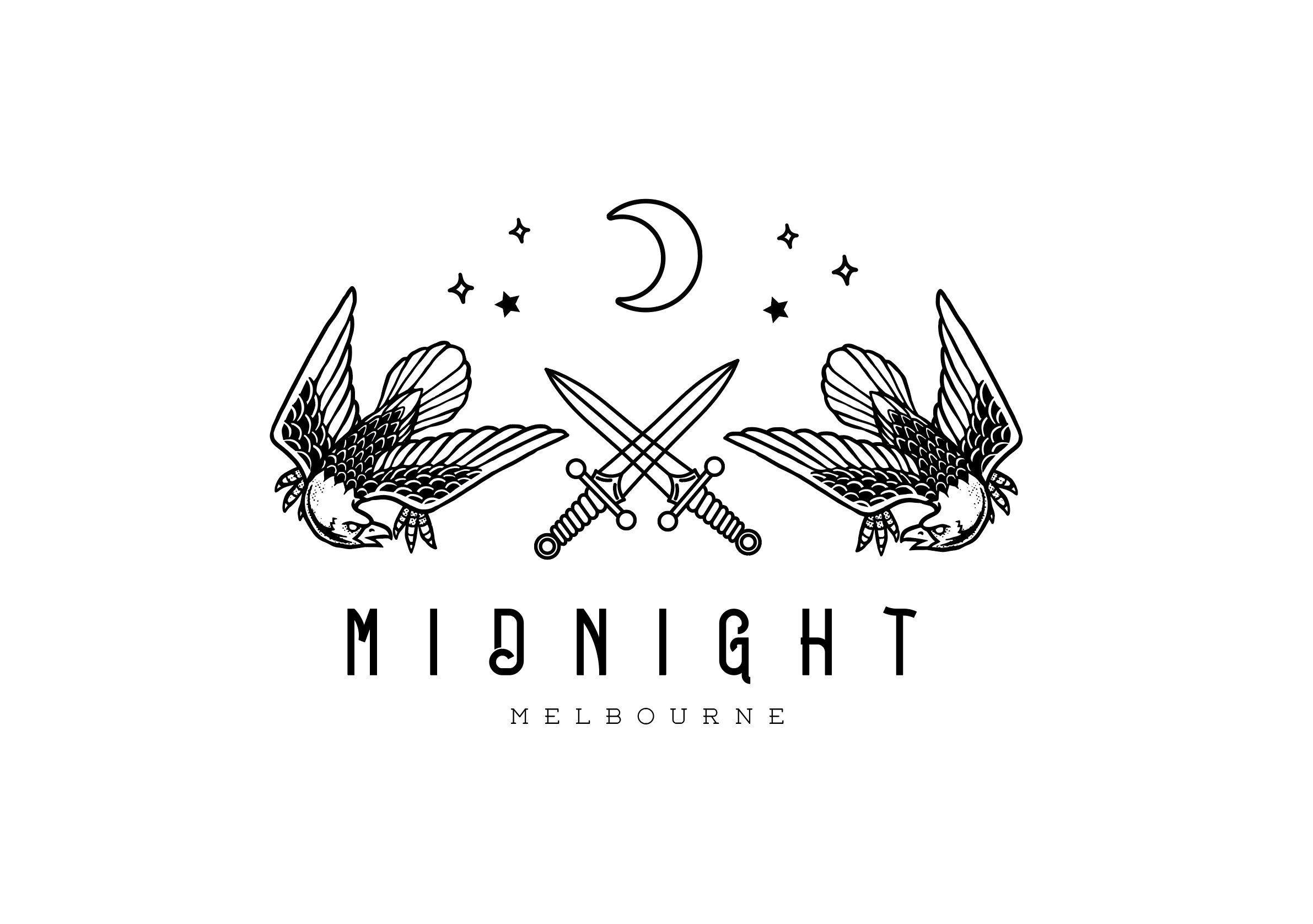Logo Design, Premade Logo, Bird Logo, Knife Logo, Vintage
