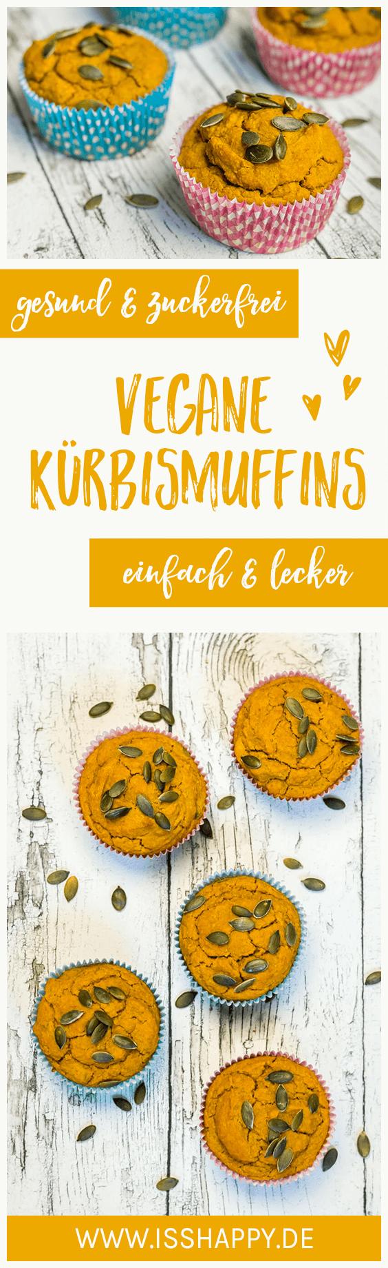 Super saftige vegane Kürbis Muffins - einfach, lecker und gesund #pumpkinmuffins