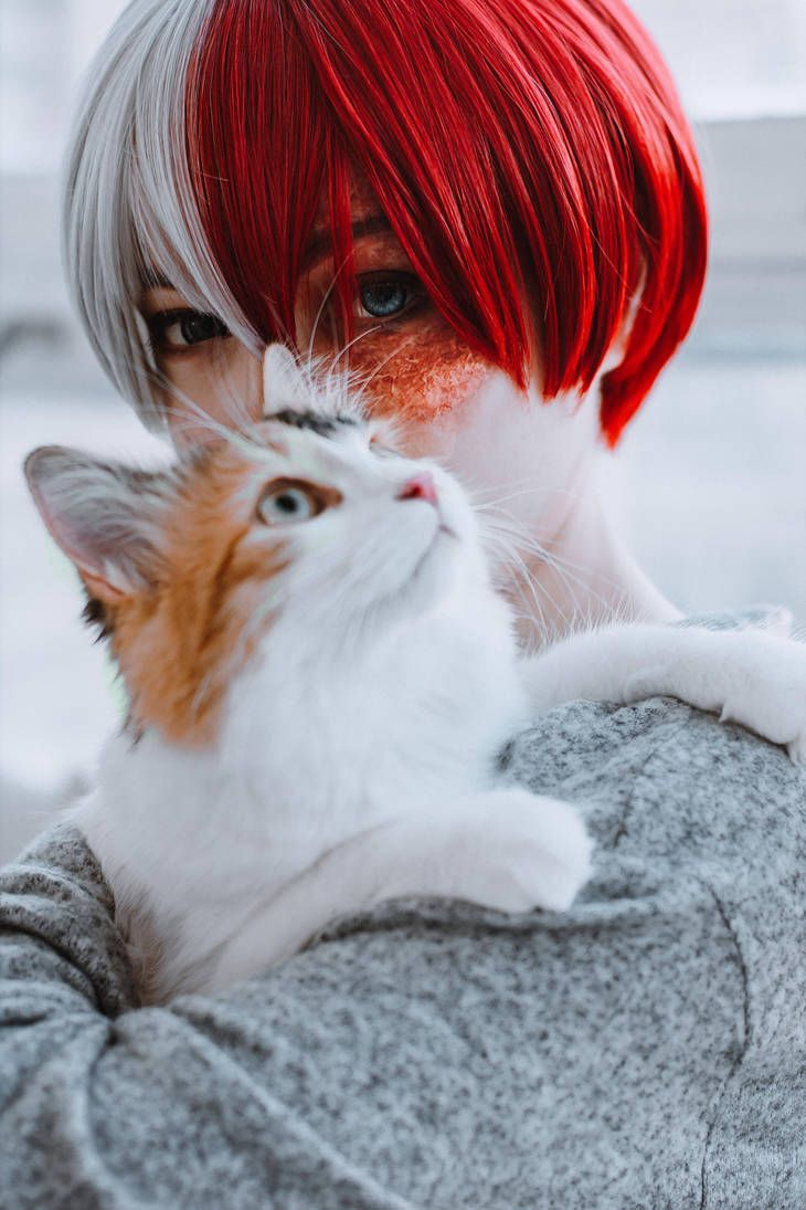 Photo of Todoroki Shoto.The countdown clock is on the wall by alutarion on DeviantArt