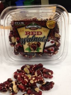 Sanguinetti Family Farms Red Walnuts are a natural cross between red-skinned Persian Walnuts and creamier traditional English Walnuts. Delicious as a #raw snack, also in salads, pancakes and other baked goods!