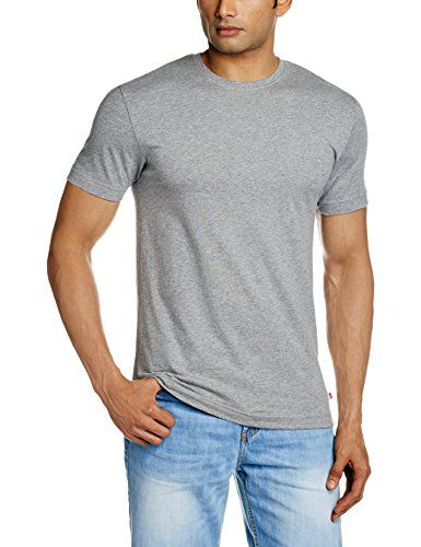 3a7e051389a Jockey Men's Cotton Inner T-Shirt (8901326135969_US34_Large_Grey Melange)