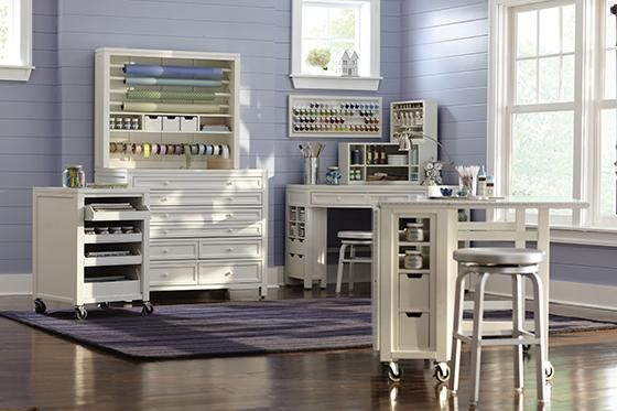 Martha Stewart Living Craft Space Cart With Pull Out Trays