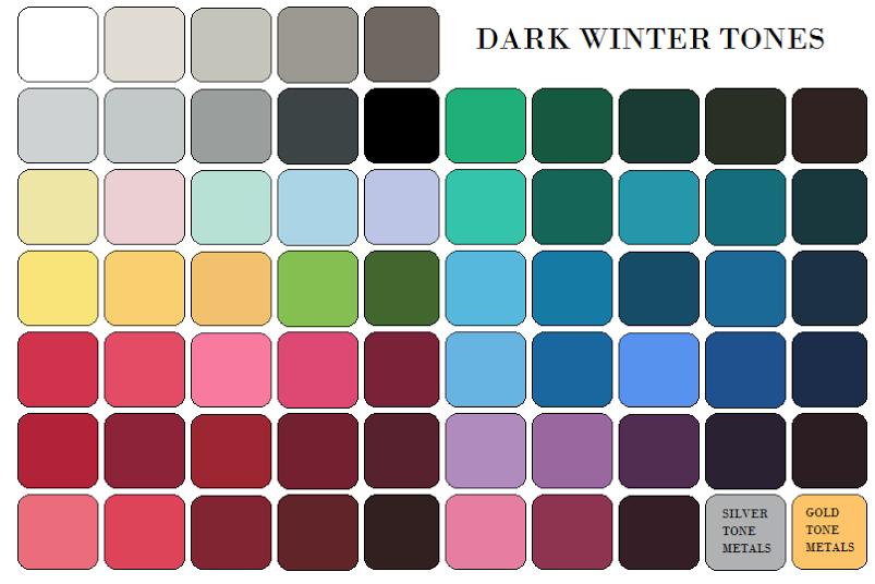 Dark Winter Palette | Dark Winter & DW Soft\Zyla Soft