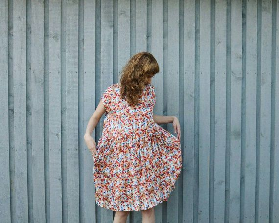 bc8163476869 Oversized Viscose Summer Dress - Loose Fit Summer Dress - Short Sleeved  Dress - Handmade by