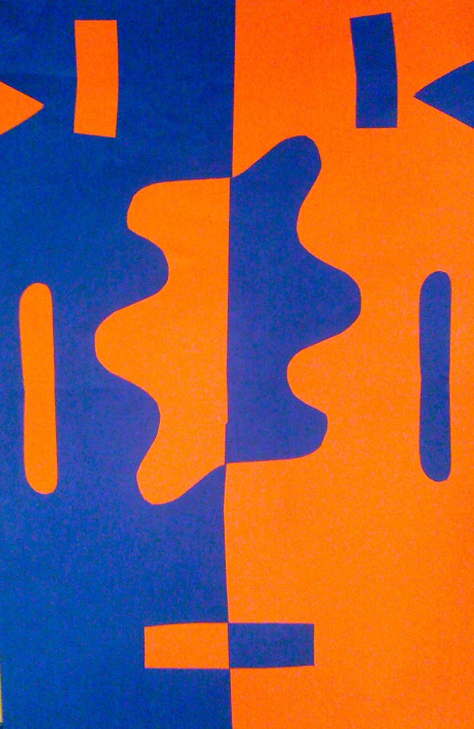 Negative Farben.Kids Art Market Positive And Negative Space Collage With
