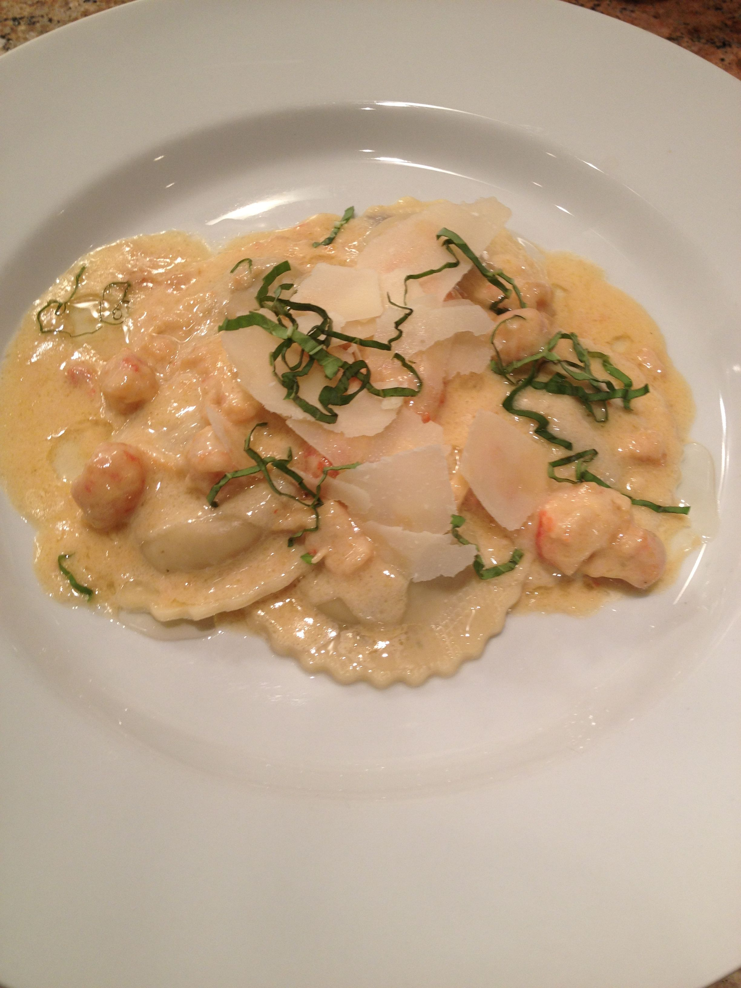 Mushroom ravioli with lobster truffle cream sauce | Cool ...