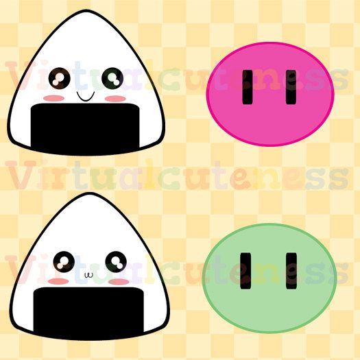 Japanese Sweets Clipart - Asian Clip Art, Rice Balls, Onigiri ...