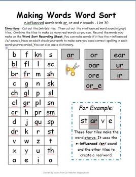 Word Study w/ r-influenced /u/ sounds (ur, ure & ur_e) - Words Their ...