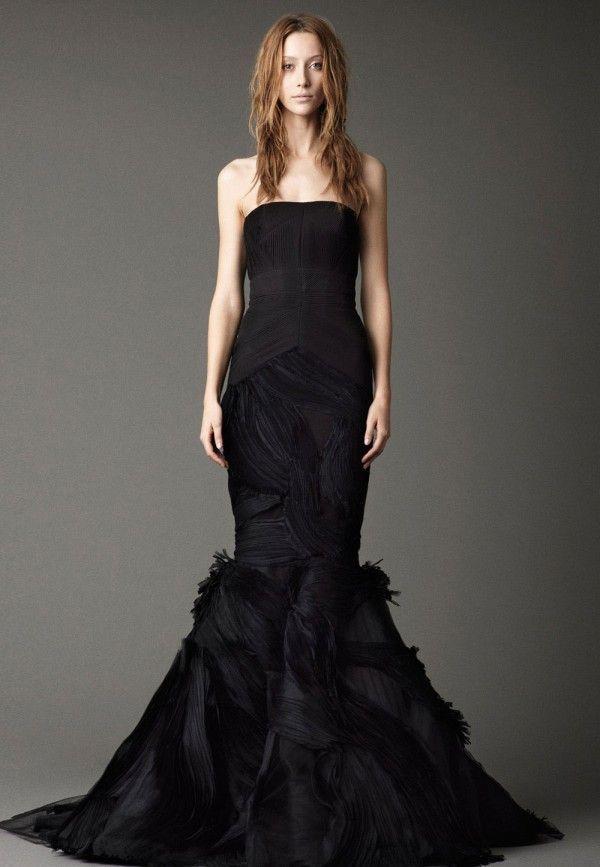 Black Wedding Gown: Vera Wang Mermaid | Mermaid Wedding Dresses ...