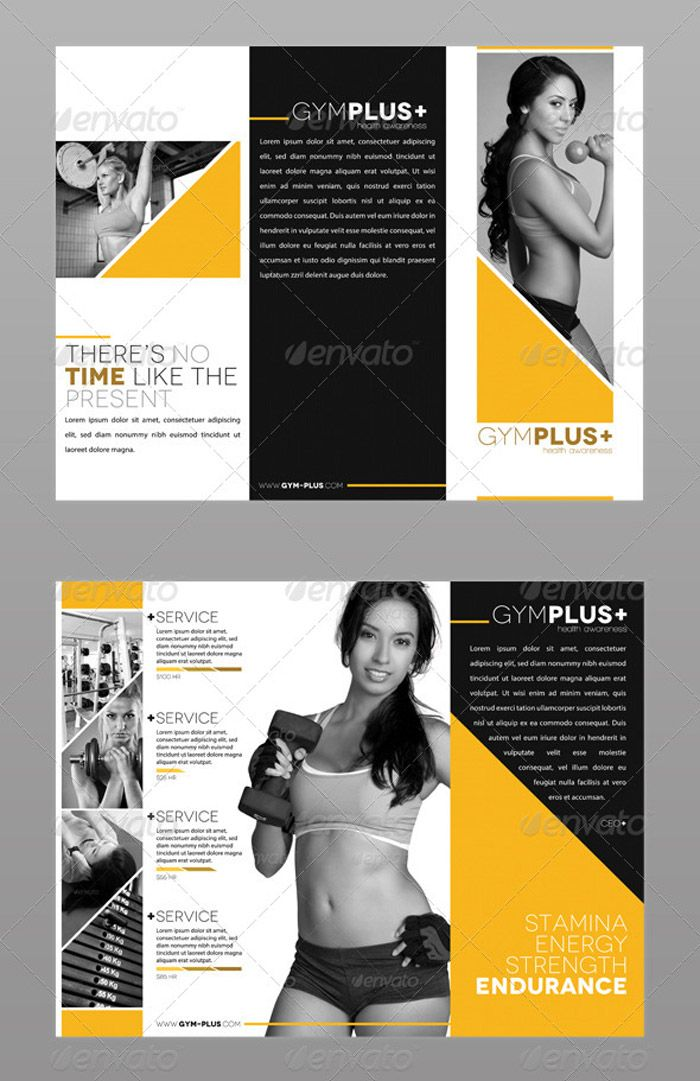 Fitness Gym Trifold Brochure      Brochures