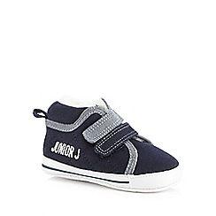 J by Jasper Conran - Baby boys' navy fleece lined booties