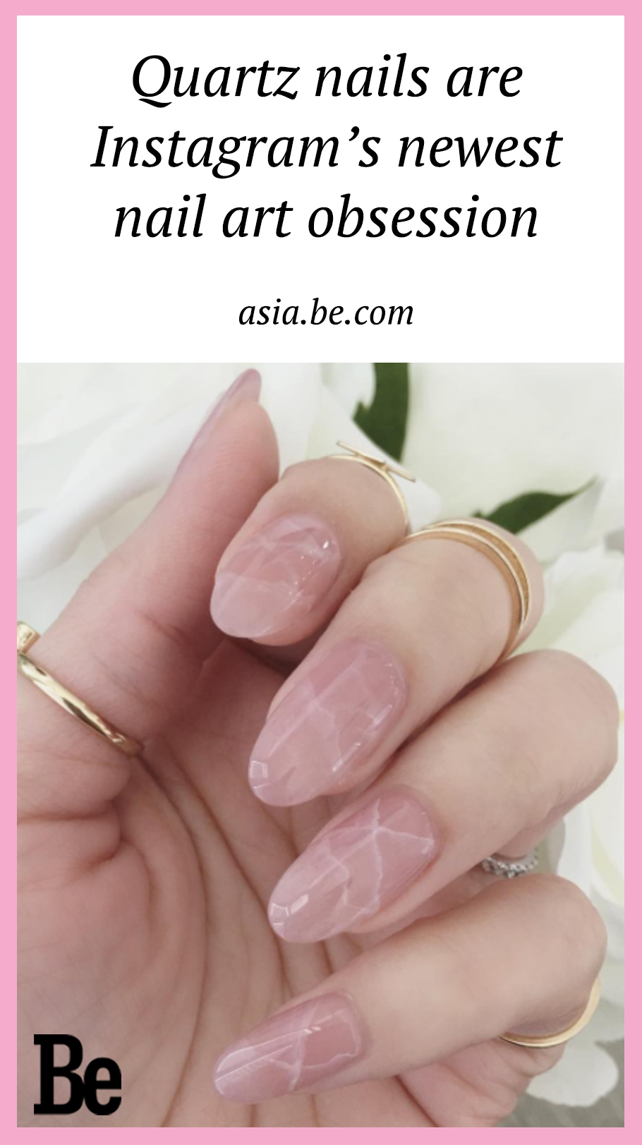 These rose quartz nails are Instagram\'s newest nail art obsession ...