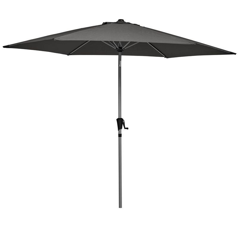 Marquee 3m Round Jasper Market Umbrella - Charcoal ...