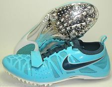 newest 1314b d0abb NEW NIKE ZOOM CELAR 4 SPRINT TRACK SHOES SPIKES SZ 10.5 BLUE SILVER CHROME  NAVY