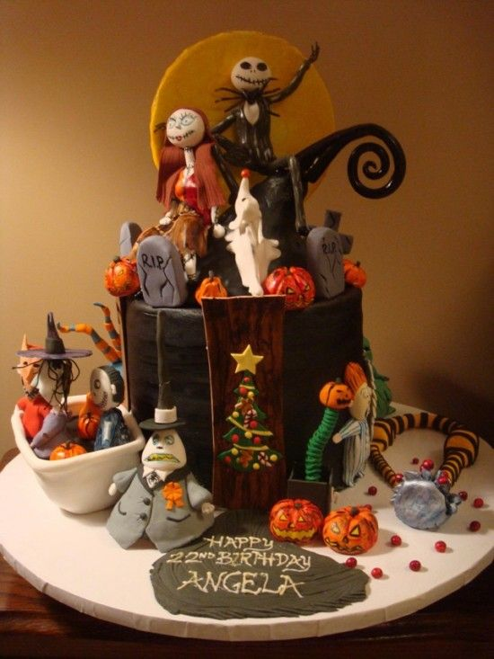 Very yummy looking Nightmare Before Christmas cake Cakes or