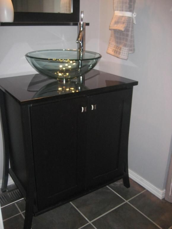 Bathroom Ideas White And Comfortable With Black Small Corner Vanity Lowes In The Gl Bowl Sink Mirror