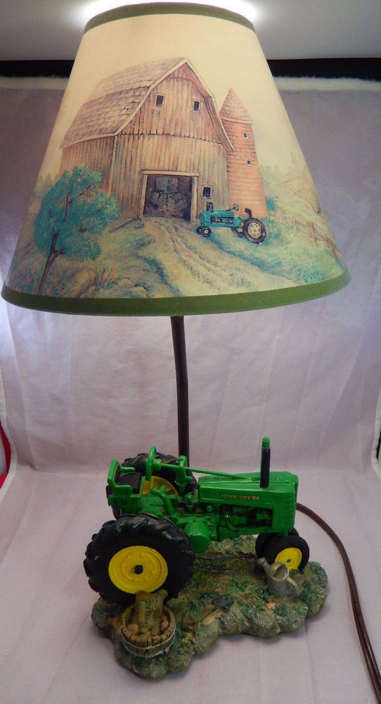 1999 john deere table lamp light lamp desk tractor resin w shade 1999 john deere table lamp light lamp desk tractor resin w shade farm scenes aloadofball Image collections
