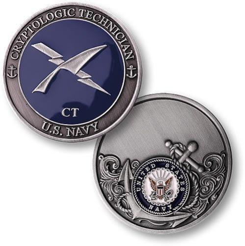 submarine rate cryptologic technician ct logo navy challenge coin