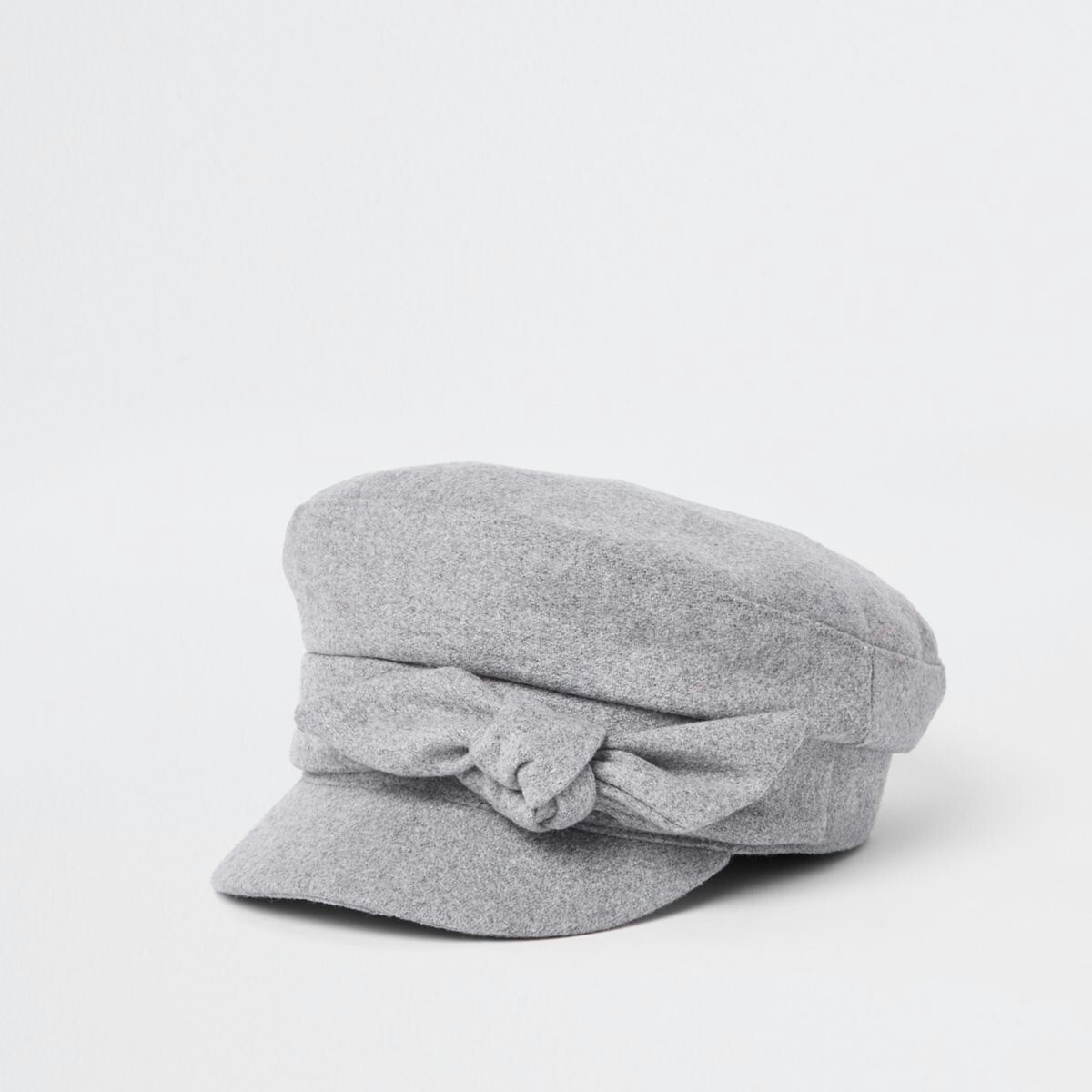 1016c08b Grey bow detail baker boy hat | Funky Clothes | Baker boy, Hats, Bows