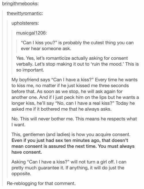 This I Actually Find Cute And Respectful Dont Think Kills The Mood