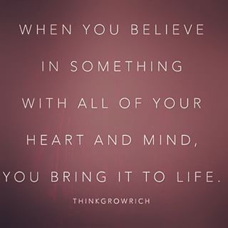 Bring your beliefs to life! #inspire #motivate