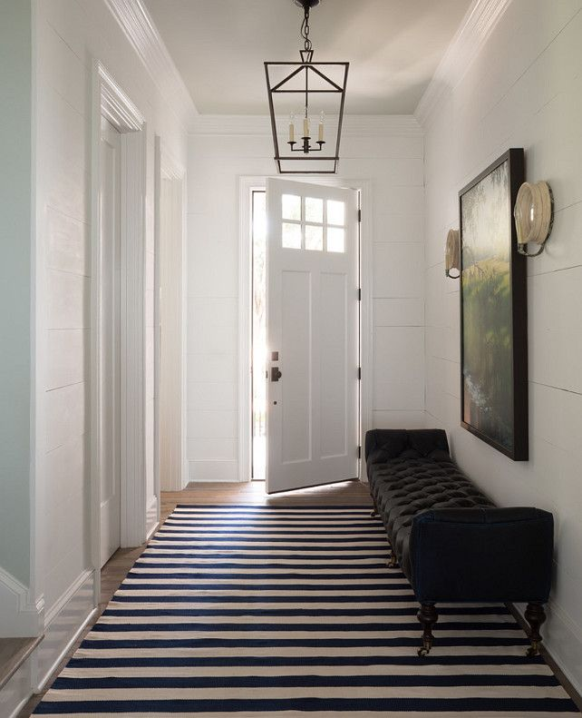Entry Hall Design Reno Ideas Decor Lighting Paint Color Is Benjamin Moore Decorators White