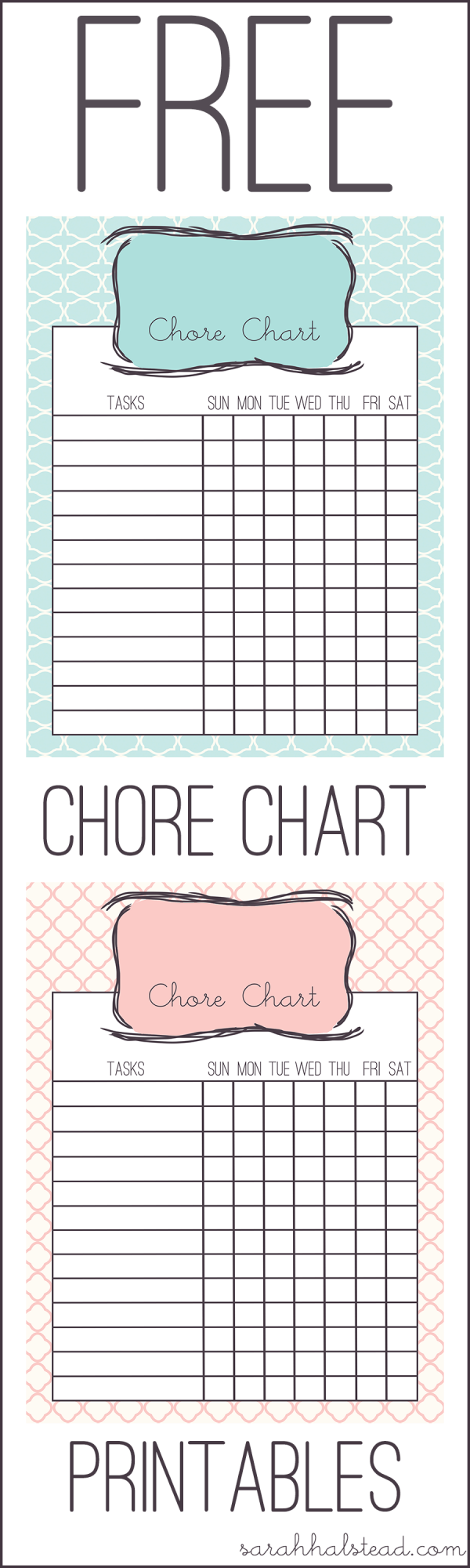 Chore Chart Free Printable | diy | Pinterest | Disciplina para niños ...