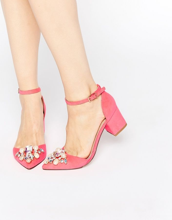 e066f53e733 ASOS SPARKLE Pointed Heels | Get In My Closet | Shoes, Shoe boots ...