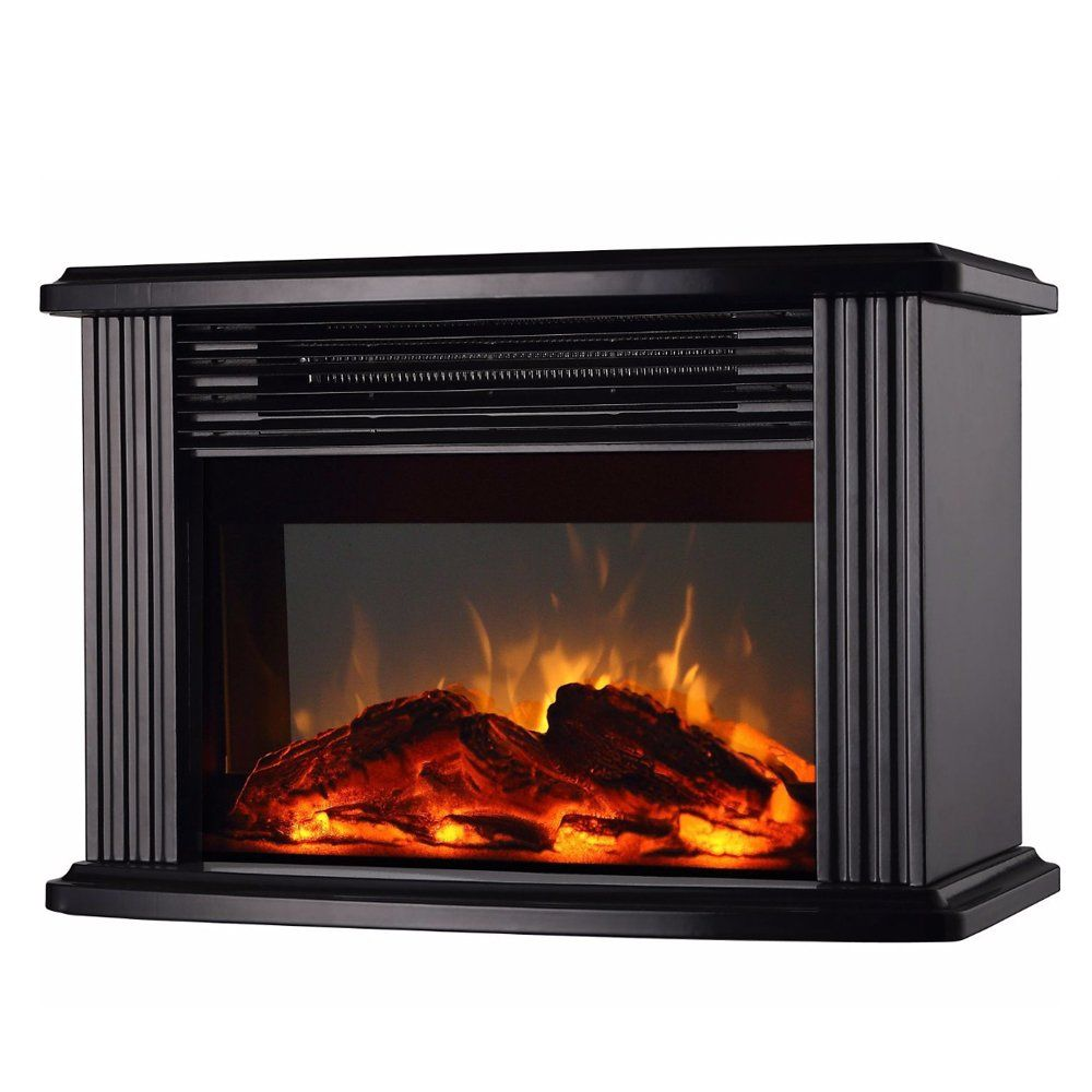Donyer Power 14 Mini Electric Fireplace Tabletop Protable Heater 1500 W Black Metal Frame Check This Awesome Fireplace Heater Tabletop Fireplaces Fireplace