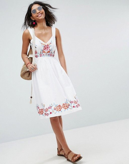 Embroidered Midi Dress | Pinterest | Fashion online, Midi dresses ...