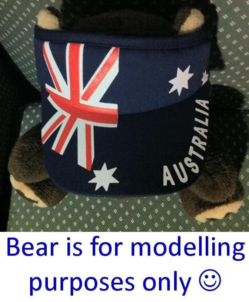 Australian Gift Souvenir Sun Visor Hat Cap Adult One Size  # Muebles Kadmiel