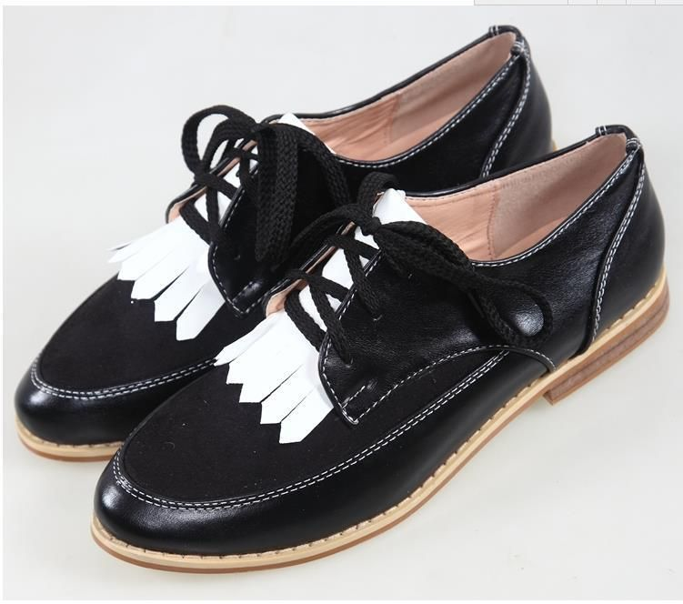 2015 retro fringed spell color lace up bullock