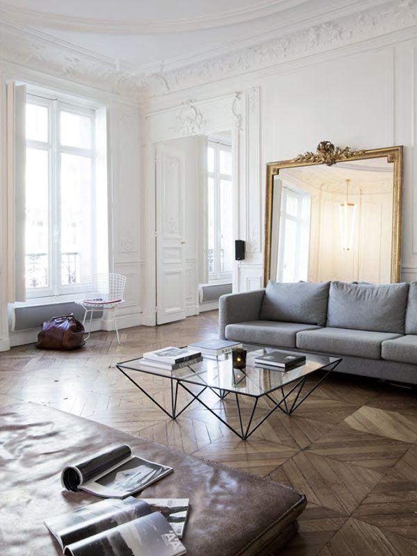 INSPIRATION #427 Graues sofa, Wohnzimmer modern und Spiegel
