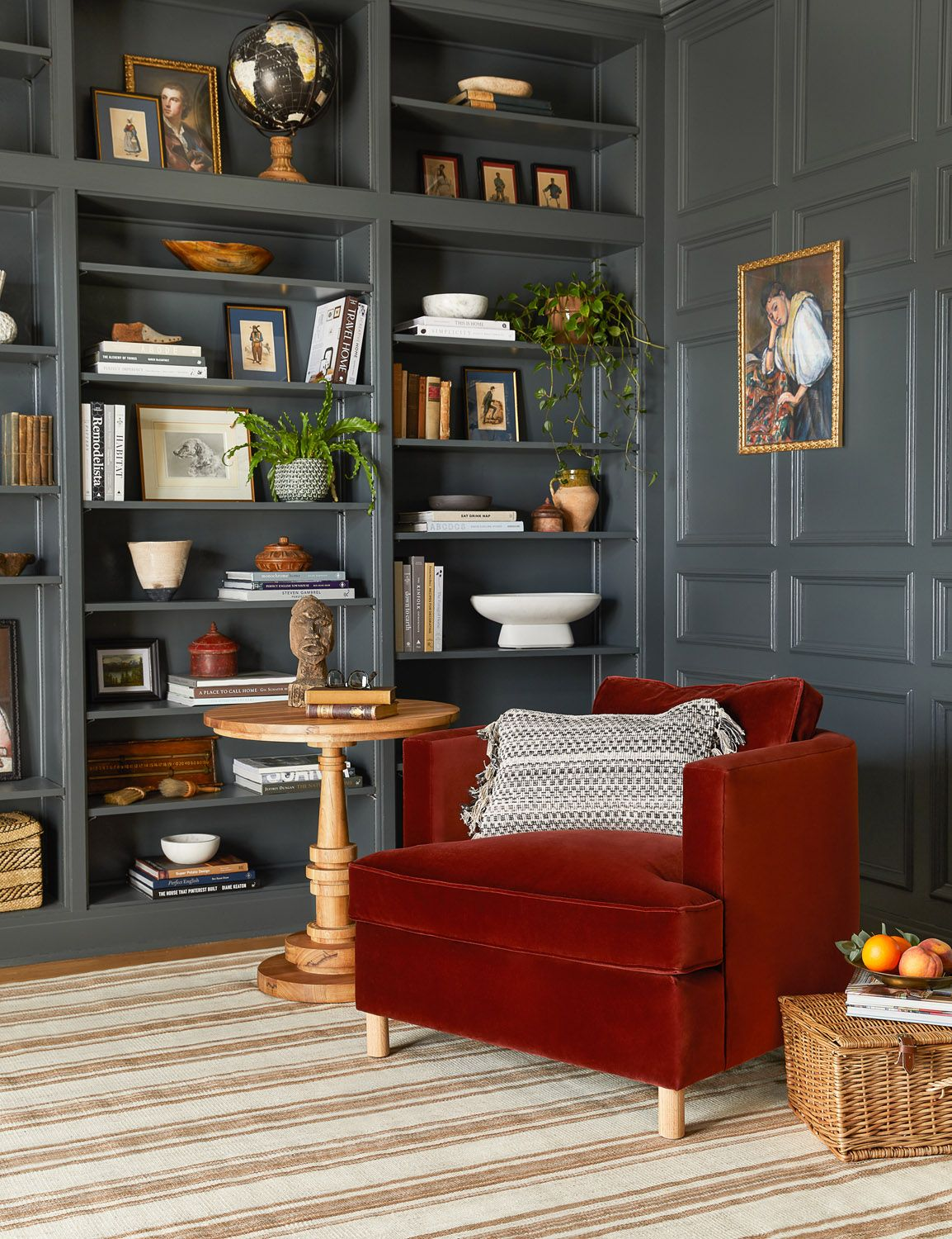 5 Minutes With Ginny Macdonald Rue In 2020 Green Dining Room Dark Living Rooms Living Room Decor #olive #green #walls #living #room
