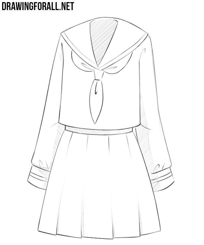 How To Draw Anime Clothes Drawingforall Net Drawing Anime Clothes Anime Outfits Anime Drawings