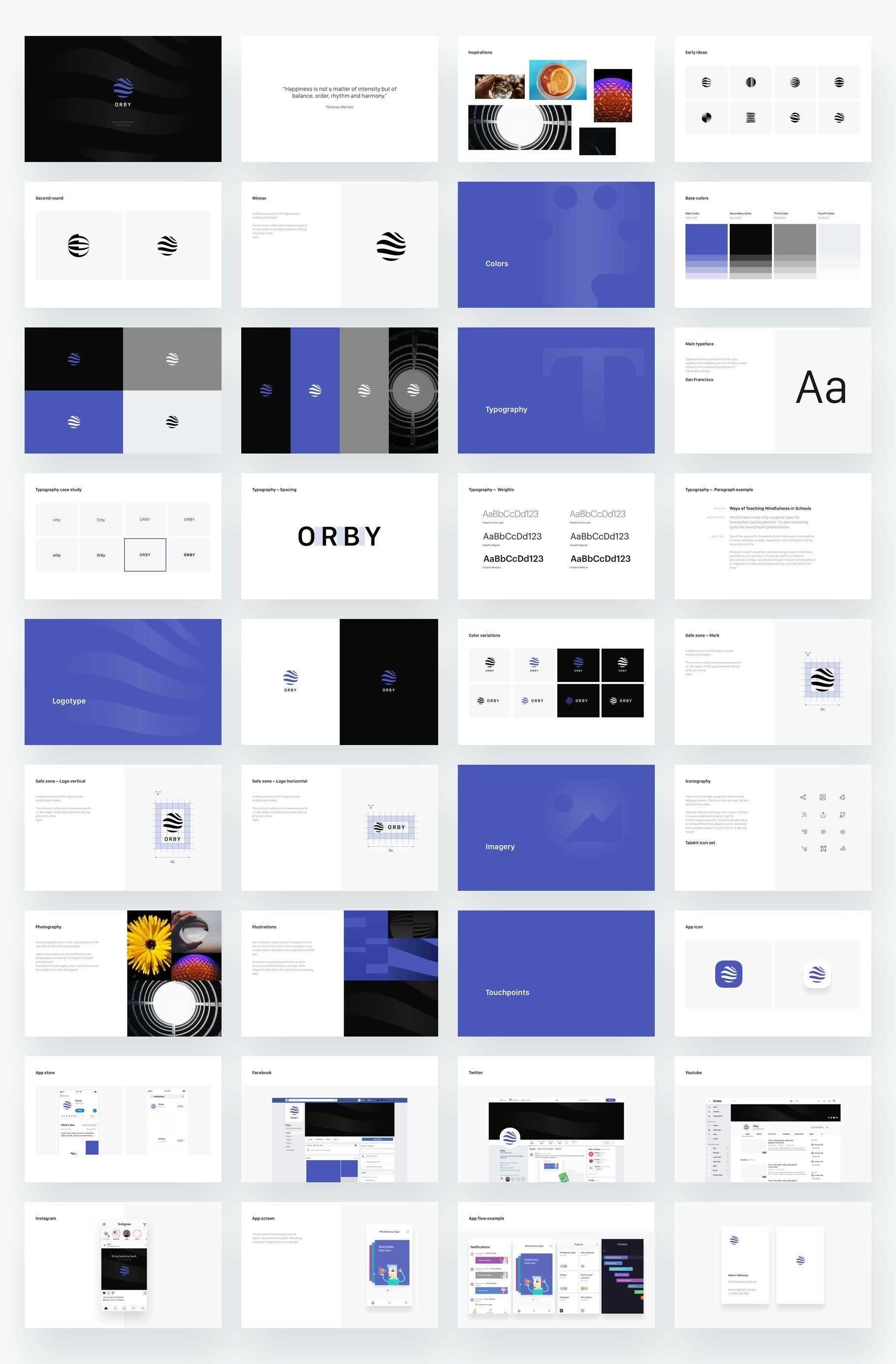 Branding Presentation Template Logo Presentation Branding Design Inspiration Presentation Design