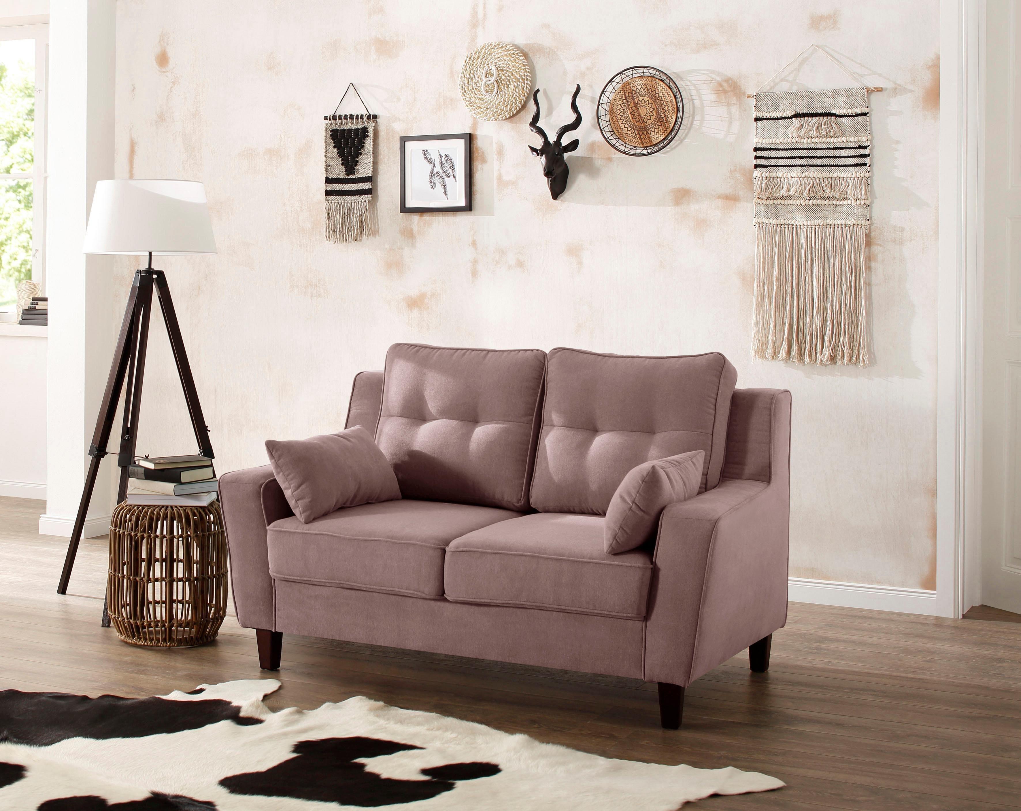 Home Affaire 2 Sitzer Dione In 2020 Sofa Leder Braun Rosa Sofa Landhaus Mobel