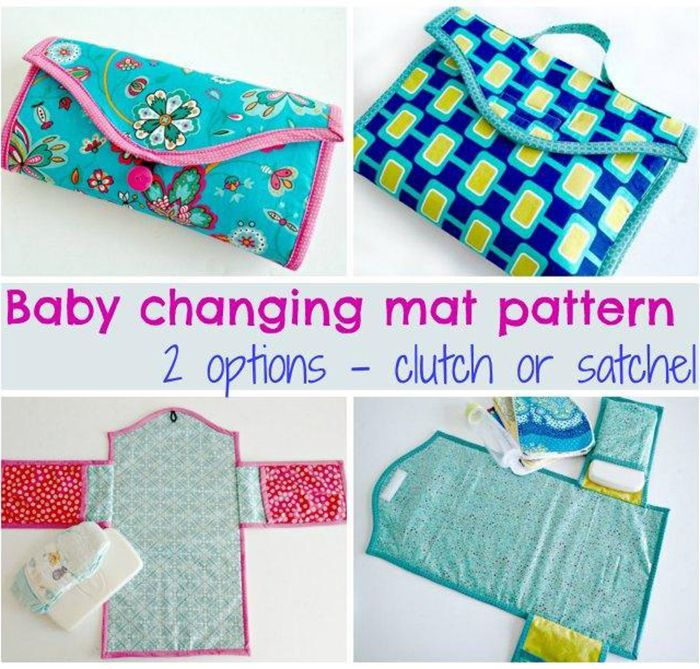 FREE baby changing pad clutch sewing pattern | Sewing Tutorials for ...