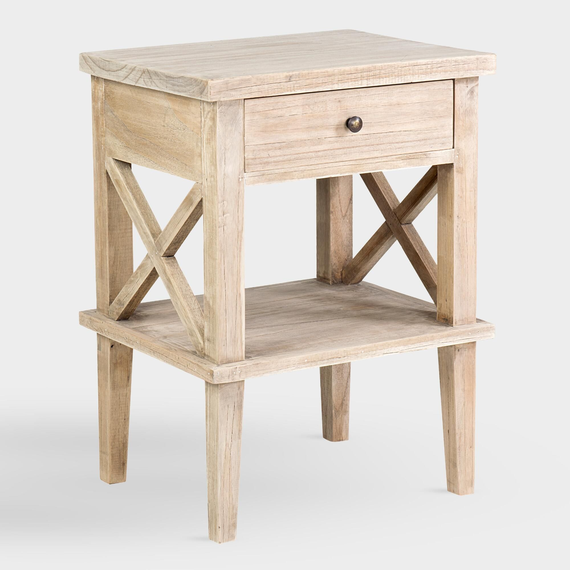 Natural Wood Nora Nightstand By World Market Products In 2019