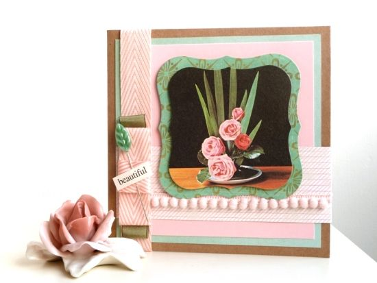 Love the colours on this card by Julie Kirk. And the bobble trim - the perfect finishing touch!