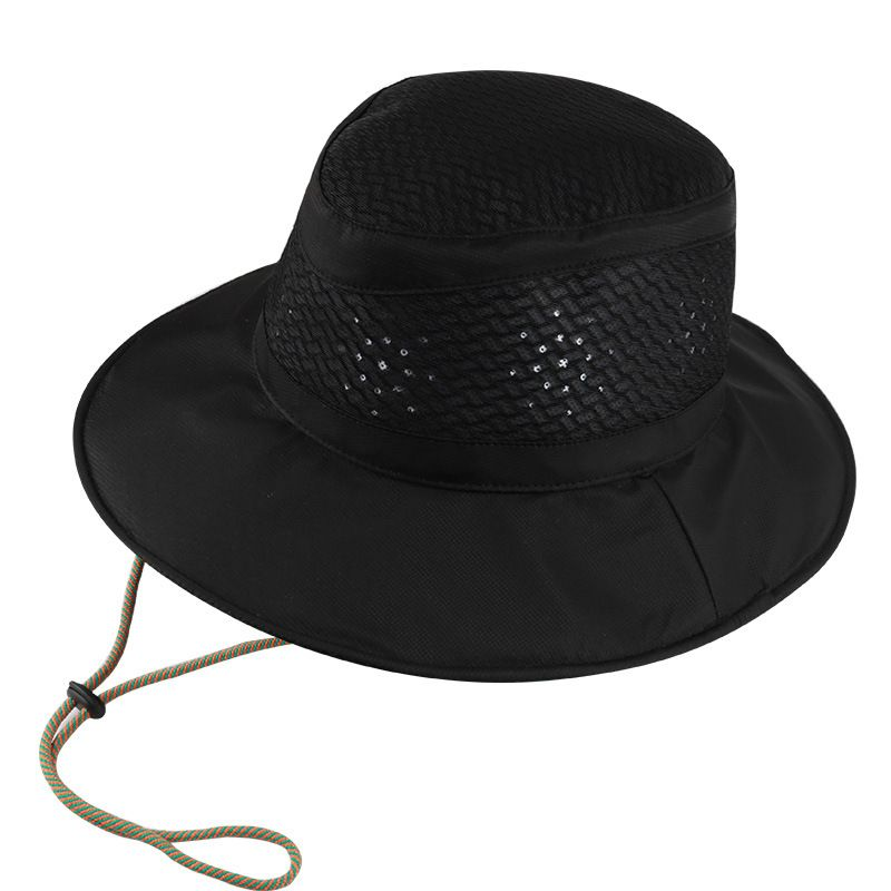 3e046f71627e4 Wide Brim Men s Fishing Hat Bucket Fisherman Hat Cotton with lace Yuong Men  Outdoor Summer Sun