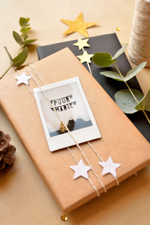 DIY Weihnachtsgeschenke verpacken mit Polaroids