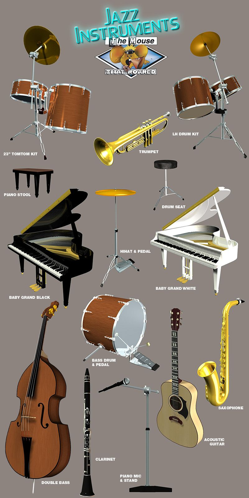 jazz band instruments and accessories | musical instruments