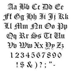 Calligraphy Alphabet Old English Gothic FontsGraffiti