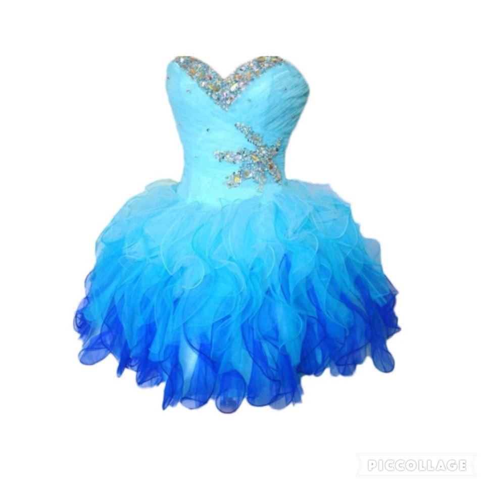 Vestido de 15 años Corto Azul Alquiler y Venta de Vestidos de 15 ...