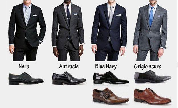 completo blu uomo scarpe