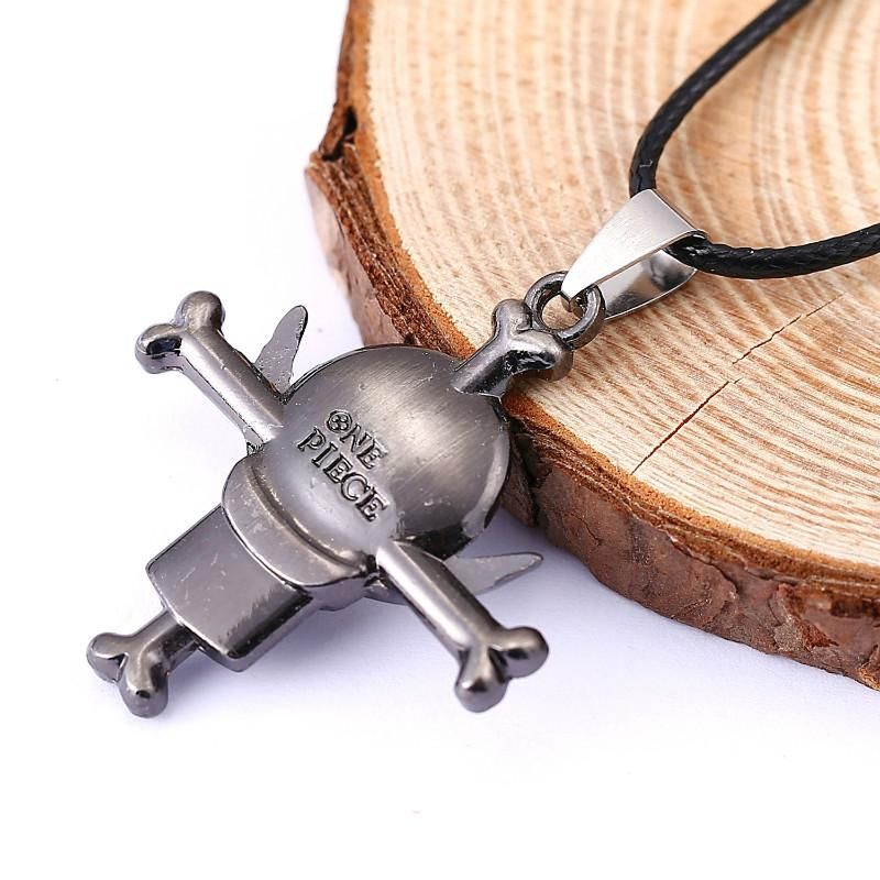 One piece luffy rudder anime pendant necklace gift for