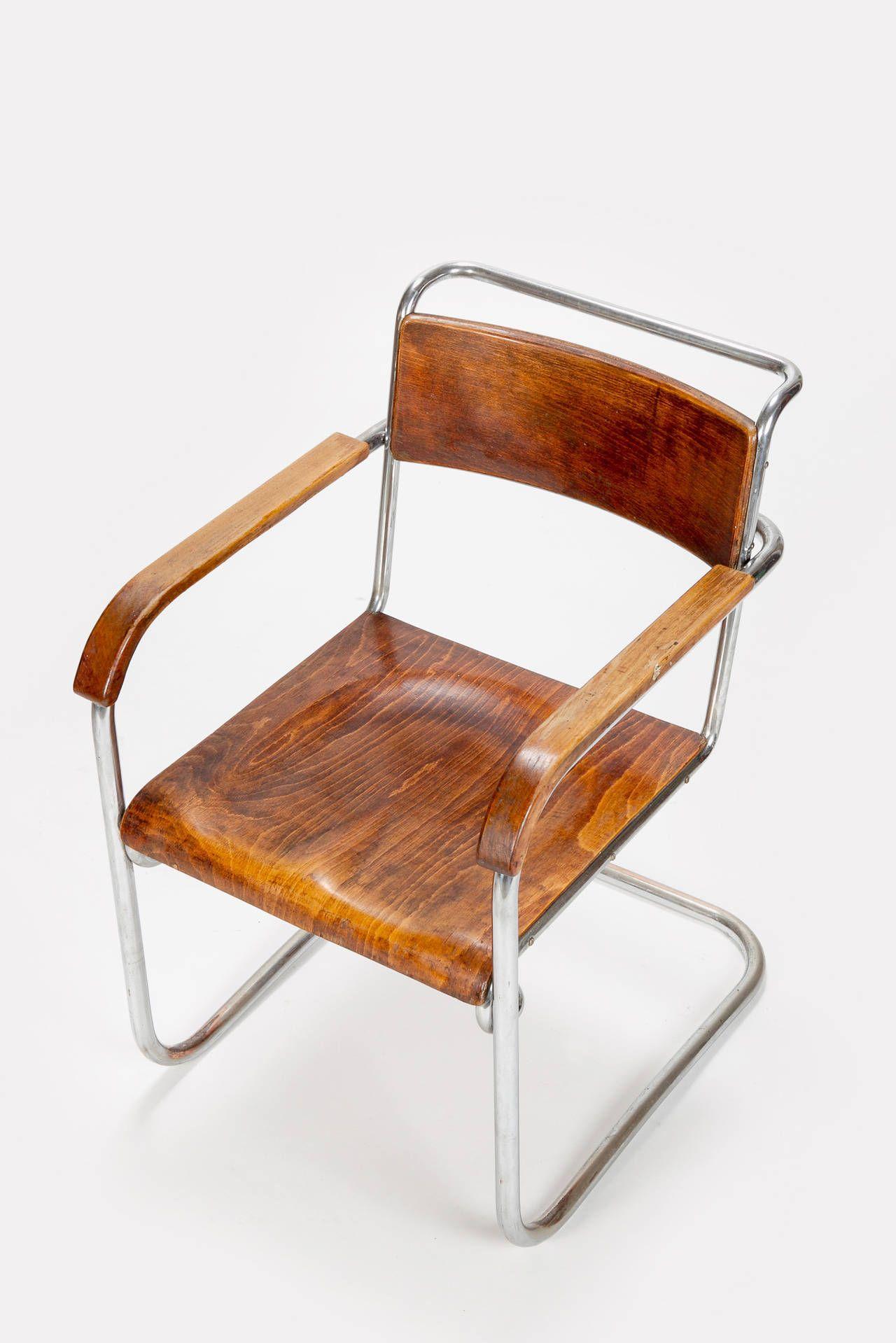 Italian Bauhaus Desk And Chair By Marcel Breuer 1930s Marcel  # Muebles Peter Behrens