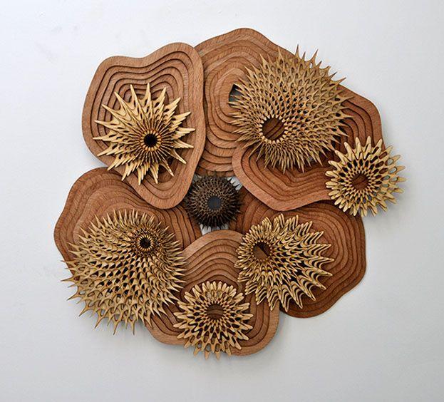 Murales decorativos el blog de dise o madera cnc interiorismo decoraci n - Murales de madera ...
